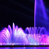 Fountain show musioc dancing fountian LED show fire show in the river or lake