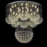 Popular Crystal ceiling lamp Pendant Light LED Decorated Chandeliers for hotel hall and villa living room