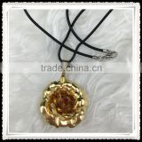 24K Gold Plated Jewelry Pendant Necklace With 999.9 Percent Gold Foil Inside ,