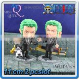 MINI QUTE 11 cm 2 styles japanese anime one piece action figure zoro Solon with mortar & sword brinquedos boys NO.MQ 096