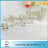 embroidery crystal rhinestone applique for weeding dress
