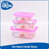 Hot selling eco-friendly PP material many size airtight food storage clear crisper box with color lid