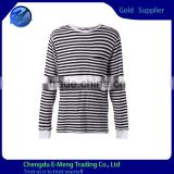 Men's Trendy Plain Long Sleeves Striped T shirt with Pocket for Autumn                                                                         Quality Choice