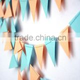 Triangle Decorative Chinese Paper Bunting Flags for Party Decoration