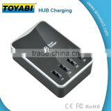 4 port 30W 6A Smart Multi Port Desktop USB Charger Travel Charger Wall Power Adapter with Cell Phone