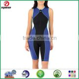 Nylon Spandex improve performance and recovery time spendex fabric Women's trisuit with Compression