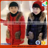 Hot sale plain and casual winter down coat for girl wear winter jacket wholesale warm winter baby clothes (ulik-J009)