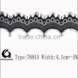 Latest Nylon trimming Lace/Non-Stretched trim Lace for dresses and other decorations.