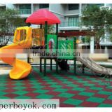 Rubber Playground Outdoor Play Area Mats 1-16F