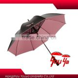 2016 Promotional New Brand black coated fan golf umbrella                                                                         Quality Choice