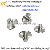 CNC machining welded contact pin