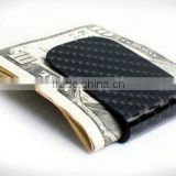 high polish Finished Carbon Fiber Money Clip, Carbon fiber wallet clip