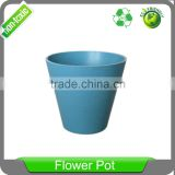 Biodegradable Colorful Mini Zinc plant Pots Bamboo fibre Flower Pots with Drainage Holes