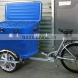 Solar Freezer With Front Load Tricycle Ice Cream Bike ice cream tricycle, Mini blue mobile juice cart ice, bulletin board                                                                         Quality Choice