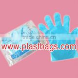 HDPE disposable plastic transparent embossed gloves