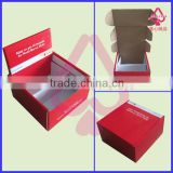 Recyclable custom luxury and upmarket corrugated foldable carton cardboard packing box for gifts