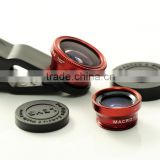 2014 Promotion Gift LIEQI 3 in 1 Universal Clip Lens Wide Angle+ Macro+ Fish Eye Lens for the phone.