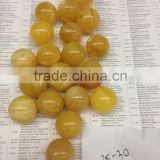 Natural Baltic Amber beads yellow white color 25-30
