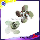 Personalized design die casting flower shaped lapel pin badge with no minimum