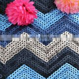 Fashional colorful 5mm dull sequins embroidery design sequins net embroidery fabric color changing sequins
