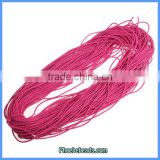 Wholesale 2mm Jewelry PU Leather Cords Violet Red 100 Metres/ Bundle PULC-C204