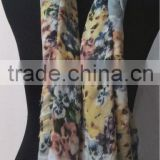 100% Cotton Scarf with Flower Print