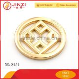 Hollowed custom logo blank round metal jewelry tags                                                                                                         Supplier's Choice
