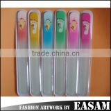 China factory sell manufacture of glass nail file with rhinestone