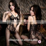 Lady`s Sexy Fishnet Open Crotch Bodystocking Bodysuit Lingerie Crotchless body stocking