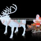 Big reindeer cart led motif outdoor lighted deer christmas                                                                         Quality Choice