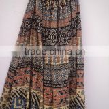 cotton women's crinckle skirts for summers traditional african prints