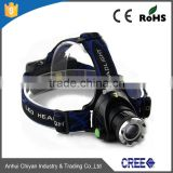 CE,RoHS Certification head torch light and Lithium Ion Battery Type led high power zoom headlamp