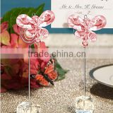 Wedding Favors Pink Crystal Butterfly Place Card Holders