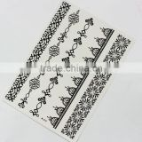 martial arts fans black Water transfer temporary bridal lace white sexy durable tattoo sticker