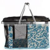 Direct Factory Price portable dog pet basket with printing pattern & pet accessory
