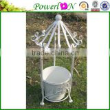 Cheap Classic New Design Wrough Iron Pavilion Shape Plant Pot For Garden Home Decoration I22M TS05 X00 PL08-5643
