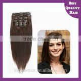 2015 New fashion Hair Extension In Stock Clip Hair Extension Wig Hair aliexpress Brazilian Straight