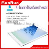 Waterproof and shockproof 2.5D 9H tempered glass screen protector for Apple ipad 2/3/4/5