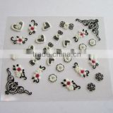 Christmas custom 2D heart shaped nail art decals lovely decorative nail stickers nail decoration accessories nails suppliers