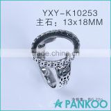 Charm rings sterling silver vintage 925 sterling silver ring circle blank ring with high quality