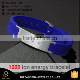 Top quality fashionable 316l stainless steel silicone bio elements quantum positive energy bracelet