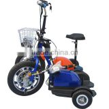 16inch front wheel three wheel electric scooter , can also with front suspension