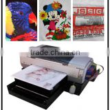flatbed hot sale digital tshirt printer / digital garment printing machine good quality cheap price