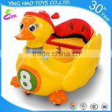 hot-selling plastic remote control battery operated kids ride on car with swan cartoon model