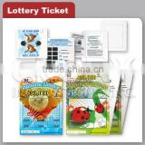 Scratch Lottery Printing Ticket