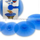 Silicone Lids, Versatile Lilypad Style Silicone Bowl Covers, Silicone Suction Lids / Cooking Lids, Reusable Food Saver Covers