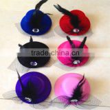 Wholesale cheap baby girl hair decoration mini top hat clip