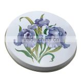 2015 new design home round candy tin tray