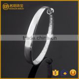 Plain silver plated expandable bangle costume jewelry fashion bracelets for women jewellery wholesale