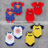 oem service China short sleeve superman lovely baby boy clothes 0-3 months with wholesale price